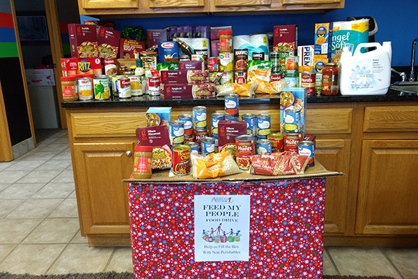 Aerco 1 Collision Food Drive Donations